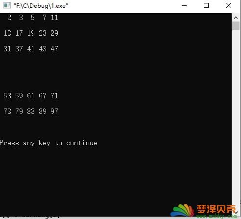 """C程序设计【每日一个小程序案例9】输出100以内的质数,每行5个,输出格式要求:""""%3d,求100以内素数的和"""