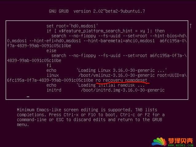 vmware ubuntu14.04 忘记密码怎么操作