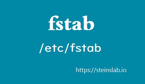 浅析 fstab 与移动硬盘挂载方法