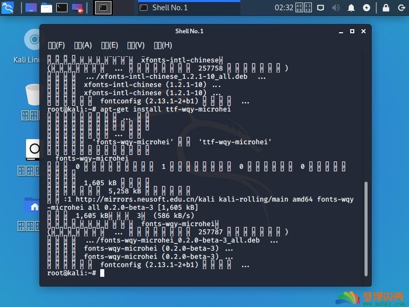 kali2020,2019乱码,kali linux安装好中文乱码解决方法