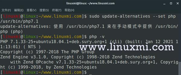 如何为Ubuntu中安装不同的PHP版本(5.6、7.x和8.0)